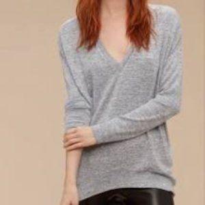 Aritzia Wilfred Free Devinette Long Sleeve Grey